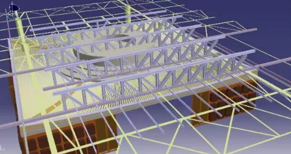 catia逆向钢结构模型与吊顶